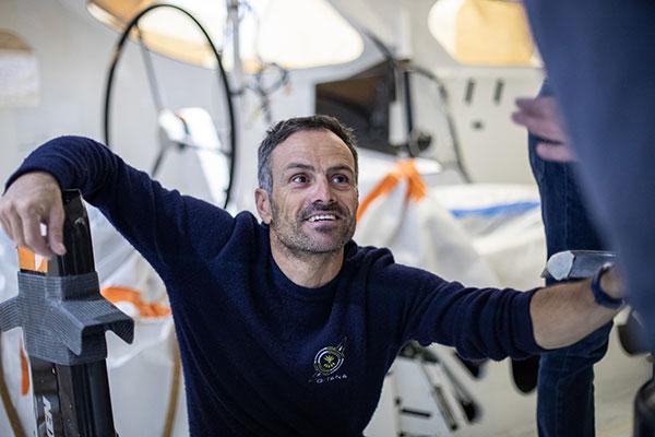 Franck Cammas, co-skipper du Maxi Edmond de Rothschild